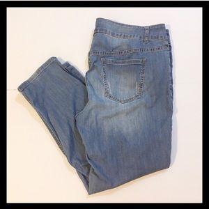 Lane Bryant Distressed Skinny Jeans